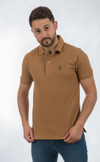Polo de Oxford / Camel