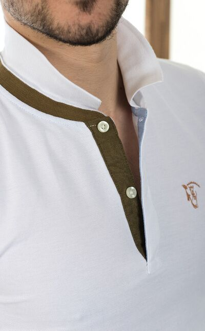 Polo de Doble Cuello | Blanco